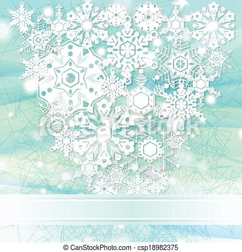 Elegante fondo de Navidad azul - csp18982375