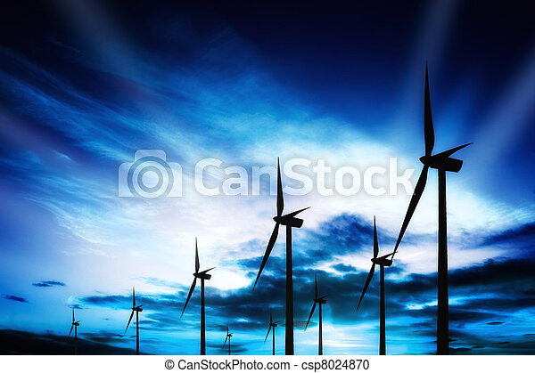 azul, energia - csp8024870