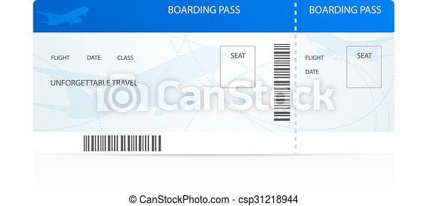 Azul, entablado, pass., plantilla, billete de avión. Gozar ...