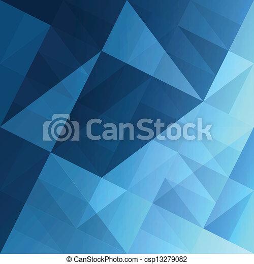 Triángulos abstractos, fondo azul. Vector, EPS10 - csp13279082