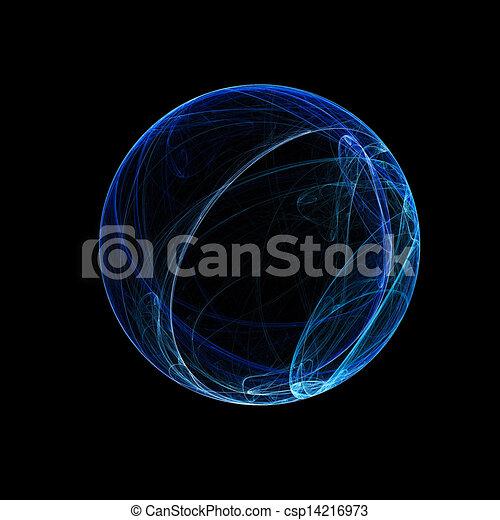Esfera de anillo azul - csp14216973