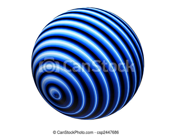 Esfera Azul - csp2447686