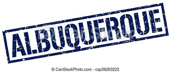 Un sello cuadrado de Albuquerque - csp39263223