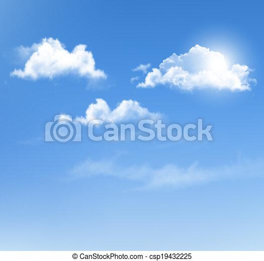 azul, experiência., vetorial, céu, clouds. - csp19432225
