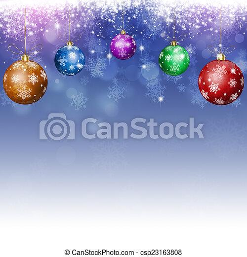 Trasfondo festivo de Navidad Azul - csp23163808