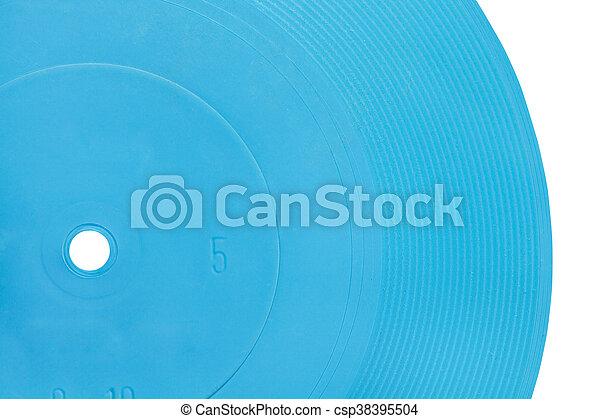 azul, flexível, disco, transparente, registro - csp38395504