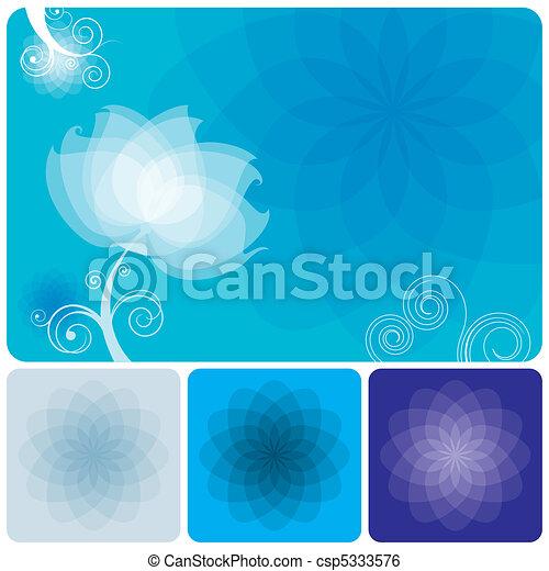 Un fondo floral azul - csp5333576