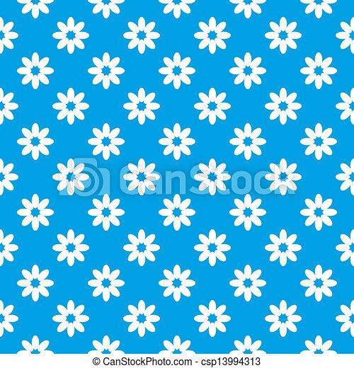 Trasfondo floral azul sin costura - csp13994313
