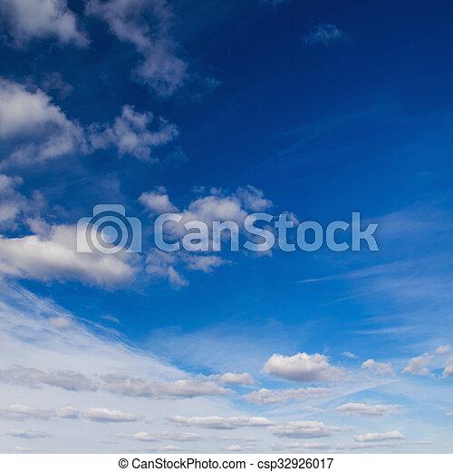 azul, fondo., cielo - csp32926017
