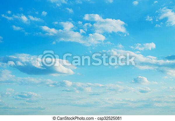 azul, fondo., cielo - csp32525081