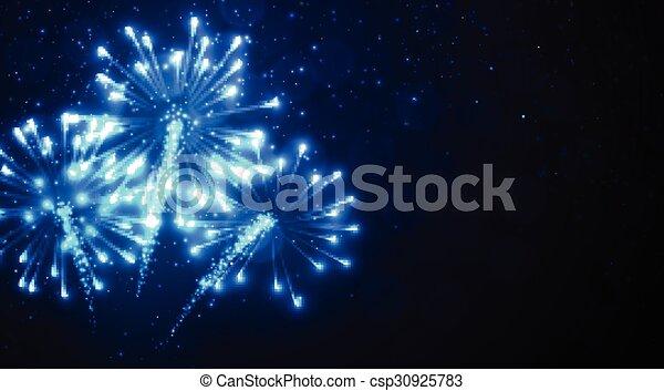 Azul Fondo Fuego Artificial Festivo