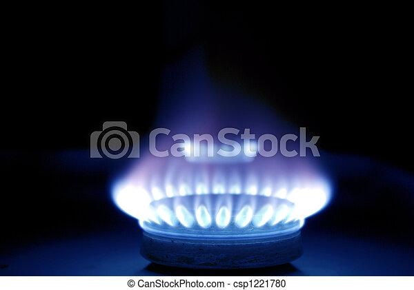 azul, gás, chamas - csp1221780