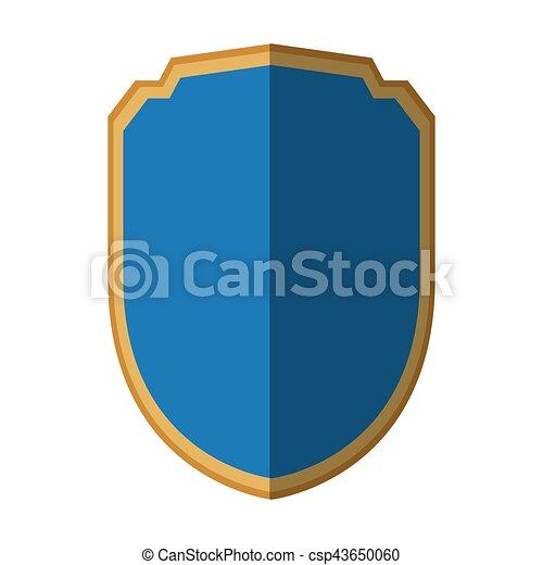 azul, gráfico, escudo, proteção, segurança, sombra - csp43650060