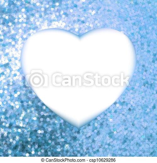 Un marco azul en forma de corazón. EPS 8 - csp10629286