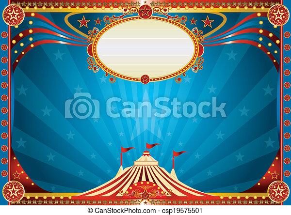 Antecedentes de circo azul horizontal - csp19575501