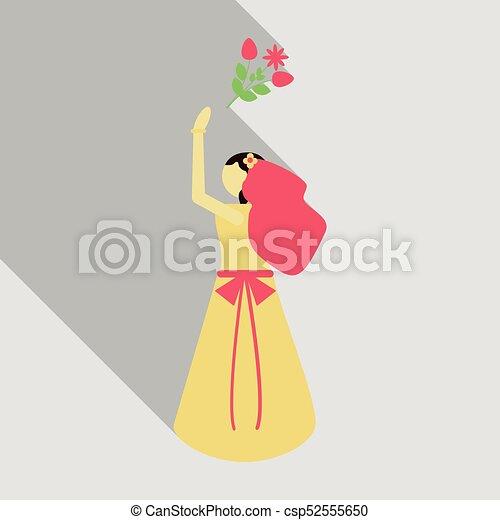 680276455 azul, illustration., novia, bouquet., fondo., vector, bride., boda,  clothing., vestido, tarjeta