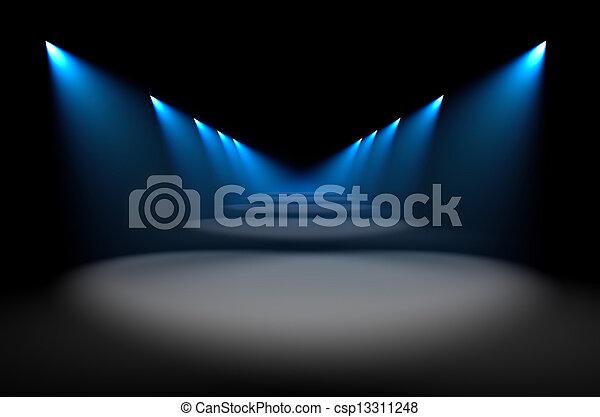 Iluminación azul - csp13311248