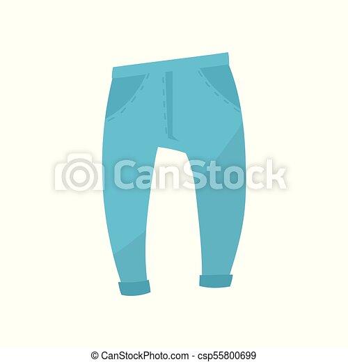 Calzoncillos azules, los chicos llevan ilustración vectorial en un fondo blanco - csp55800699