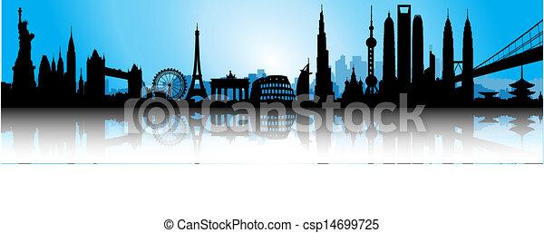 Línea aérea azul internacional - csp14699725