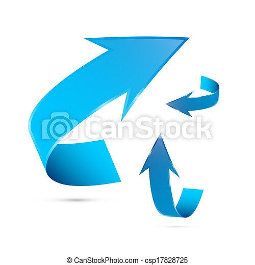 azul, jogo, setas, isolado, vetorial, fundo, branca - csp17828725