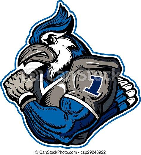 Jugador de fútbol de Jay azul - csp29248922