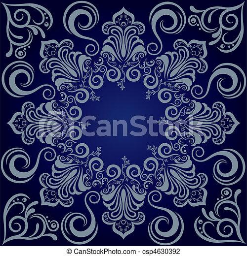 azul, mandala, fundo - csp4630392
