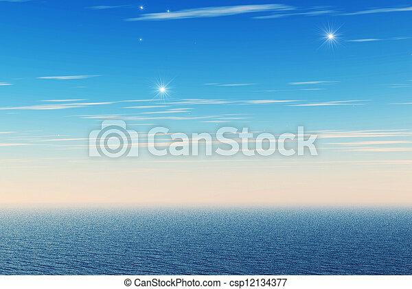 Mar azul - csp12134377