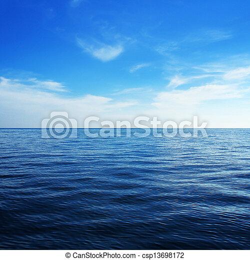 Mar azul - csp13698172