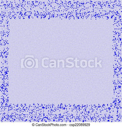 Fuego artificial azul - csp22089929