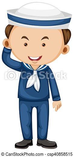 Marinero con uniforme azul - csp40858515