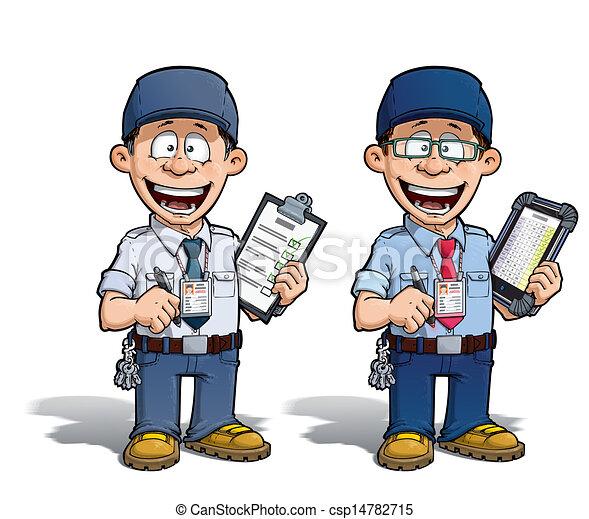 azul, mensajero, --, -, zoo, director, prisión, almacén - csp14782715