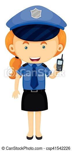 Policía con uniforme azul - csp41542226