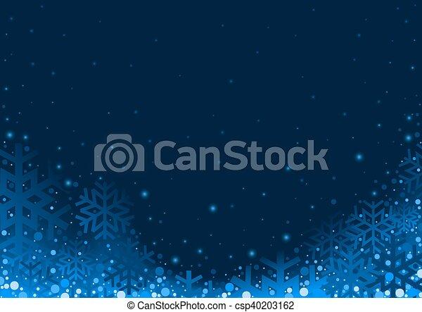 azul, natal, fundo - csp40203162