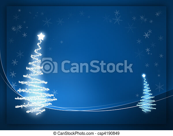 Navidad azul - csp4190849