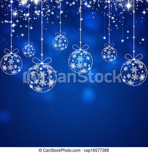 Trasfondo azul de Navidad - csp16577388