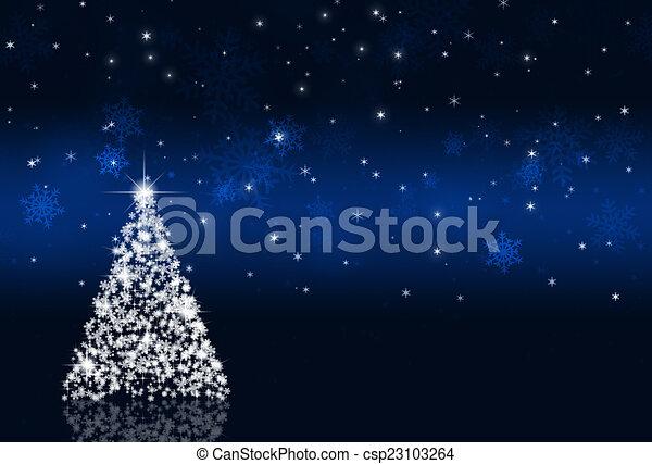 Trasfondo de Navidad Azul - csp23103264
