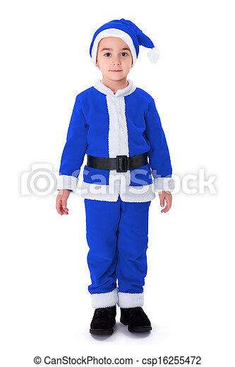 Azul ni o poco claus disfraz santa posici n ni o - Disfraz de santa claus para nino ...