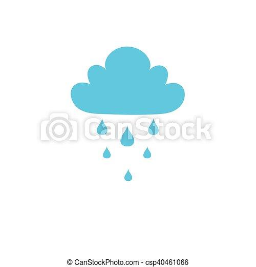 Azul, nube, lluvia, icono. Azul, tela, fondo., móvil, concept ...