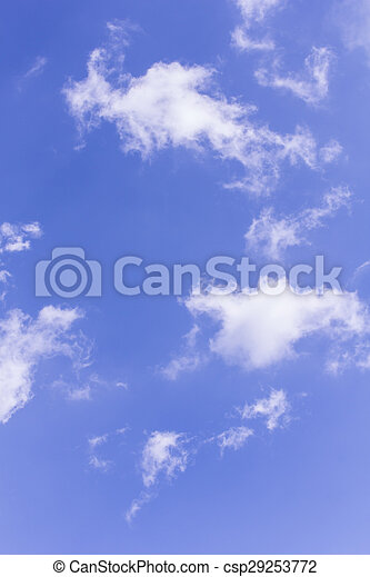 Nubes de belleza con fondo azul y textura - csp29253772