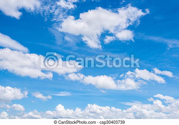 Cielo azul con nubes - csp30403739