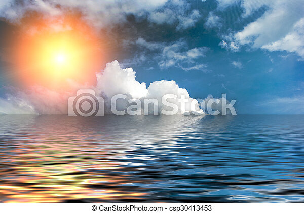 Cielo azul con nubes - csp30413453