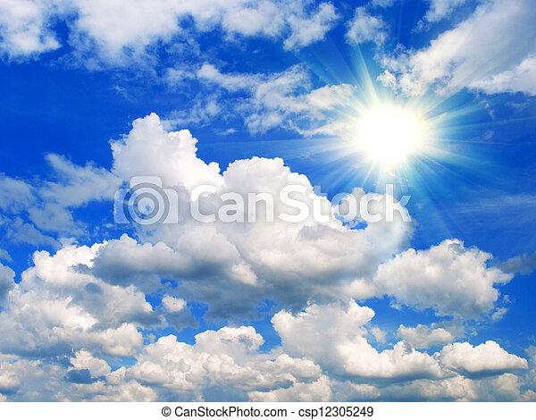Cielo azul con nubes - csp12305249