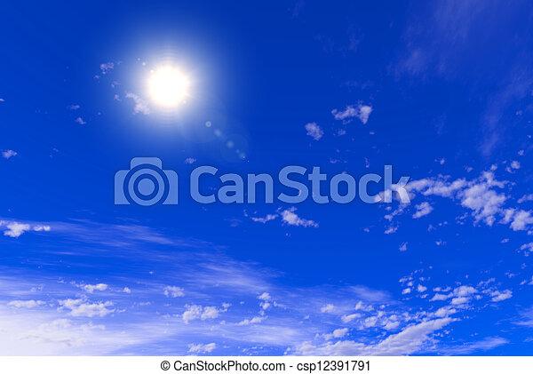 Cielo azul con nubes - csp12391791