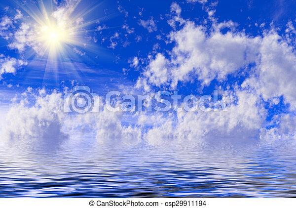 Cielo azul con nubes - csp29911194