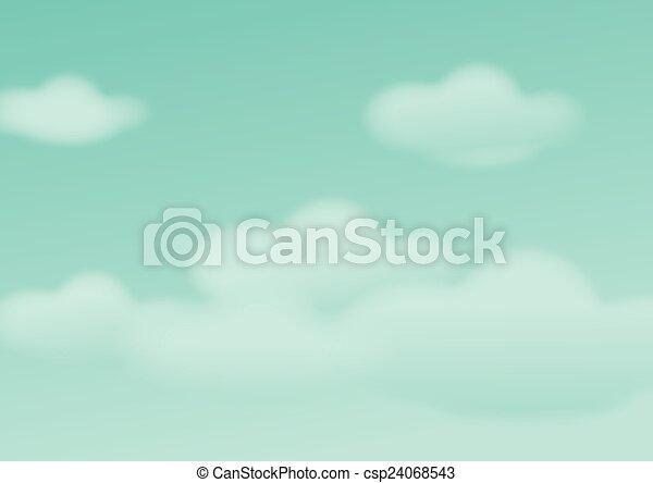 Cielo azul con nubes de fondo - csp24068543