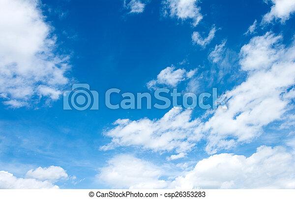 Cielo azul con nubes - csp26353283
