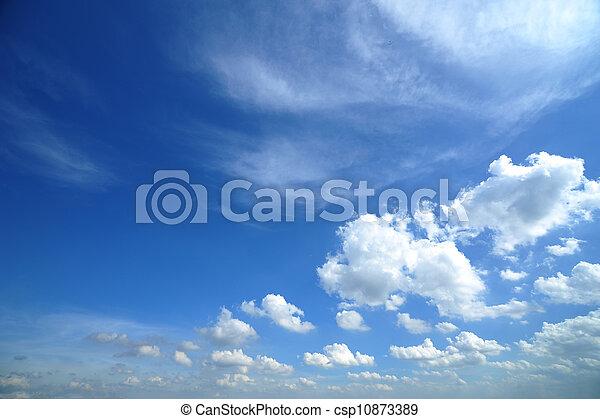 azul, nuvens, céu - csp10873389