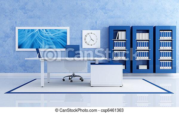 Oficina azul contemporánea - csp6461363