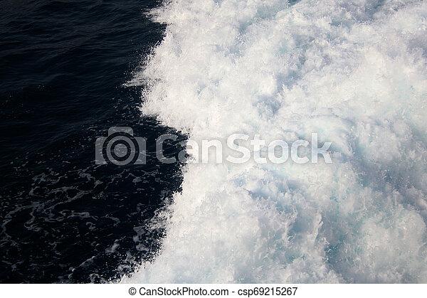 azul, olhado, mar, foam., cena, escuro, above., lote, ondas - csp69215267