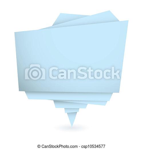 Elemento azul de origami - csp10534577